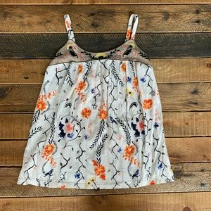Anthropologie floral tank XS